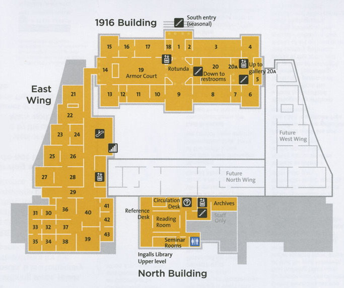 1916 and East Wing Gallery Map
