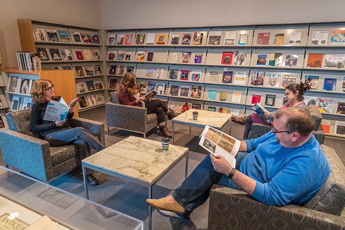 Library Lounge, 2018. Photo Credit: Howard Agriesti