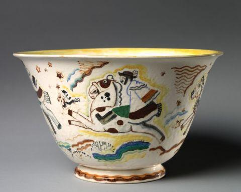 Csikos Punch Bowl, 1933. Russell Barnett Aitken (American, 1910-2002). Ceramic. Gift of Irene Roosevelt Aitken. 2013.359