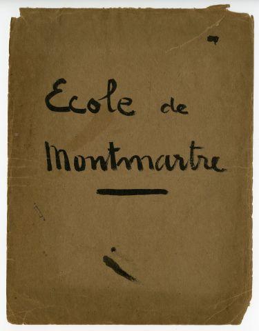 Ecole de Montmartre Minute Book Cover