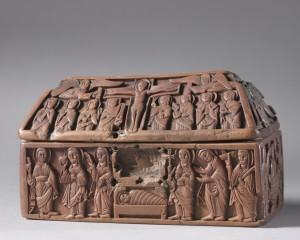 Anglo-Saxon, England, West Midlands, Wooden Casket; Scenes from the Life of Christ, c. 1050, The Cleveland Museum of Art, boxwood, copper-alloy, glass.